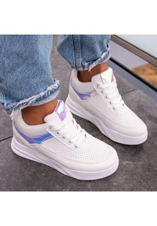 Trampki Sneakersy Sportowe Białe Wendy