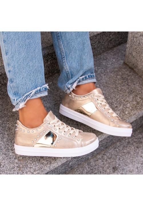 Trampki Sneakersy Złote Veras