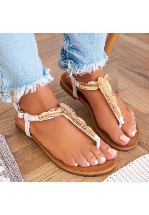 Sandałki Japonki Białe Aurelie