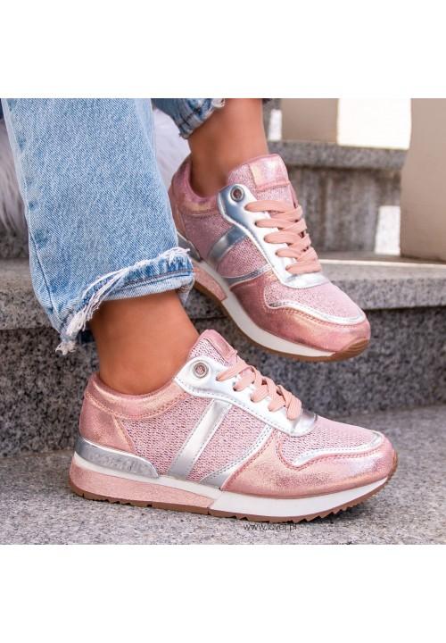 Trampki Sneakersy Różowe Elaine