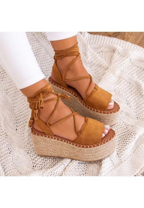 Sandały Espadryle Na Platformie Camel Lydie