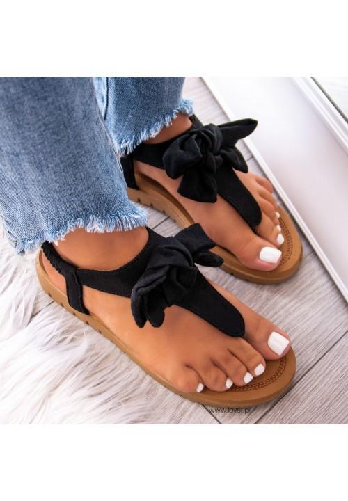 Sandałki Japonki Czarne Carolyn