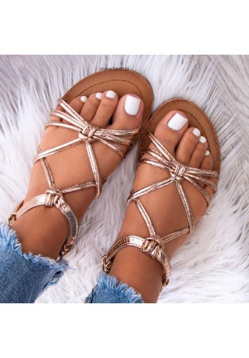 Sandałki Różowe Złoto Sophies