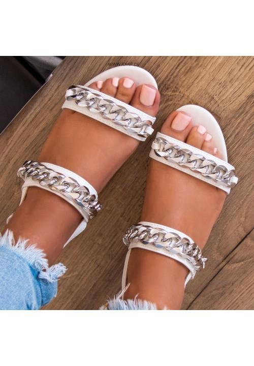 Sandałki na Słupku Białe Belinda