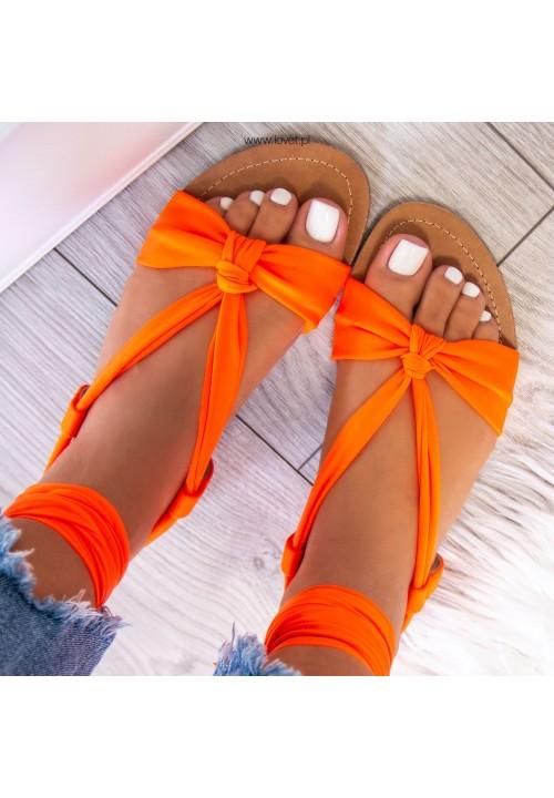 Sandałki Lace Up Pomarańczowe Suzanne