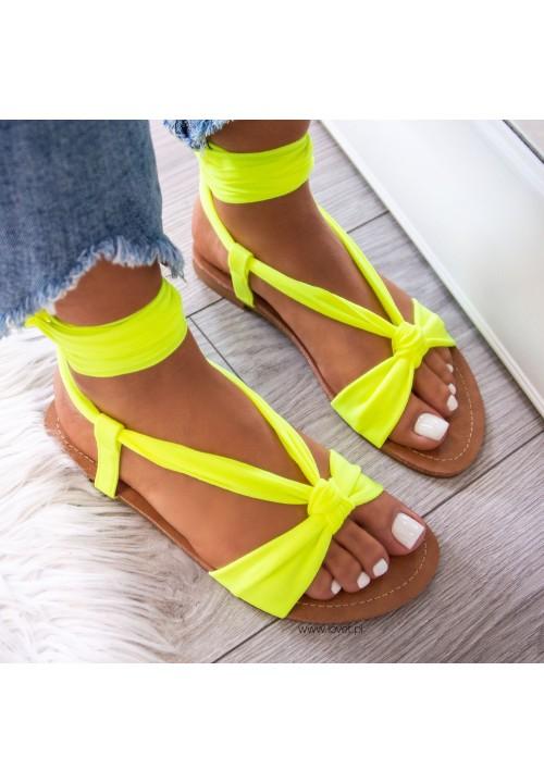 Sandałki Żółte  Suzanne Lace Up