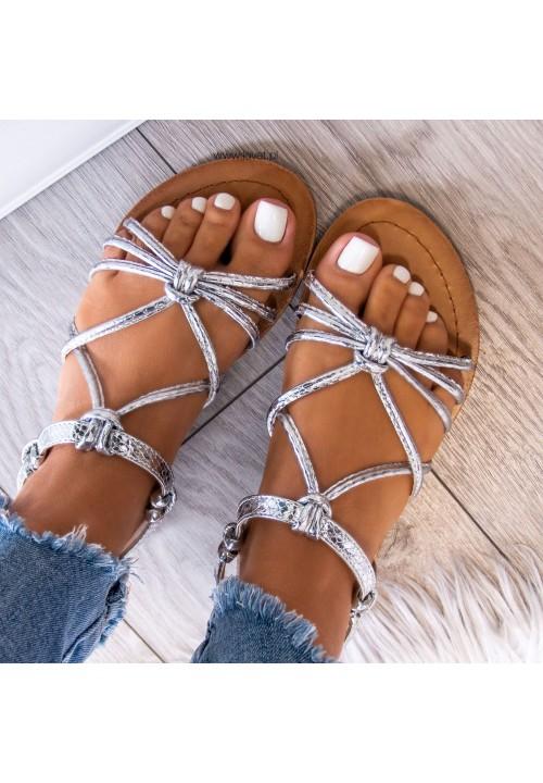 Sandałki Srebrne Sophies