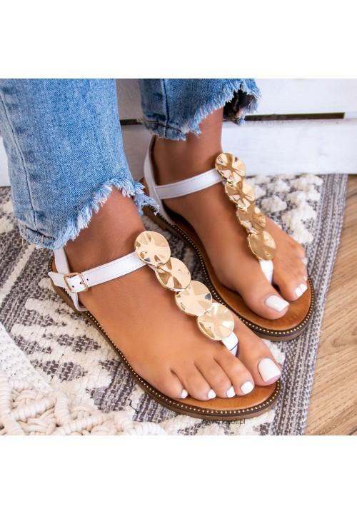 Sandałki Japonki Białe Judith