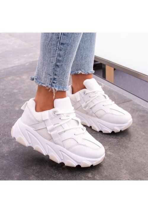 Trampki Sneakersy Białe Victoria