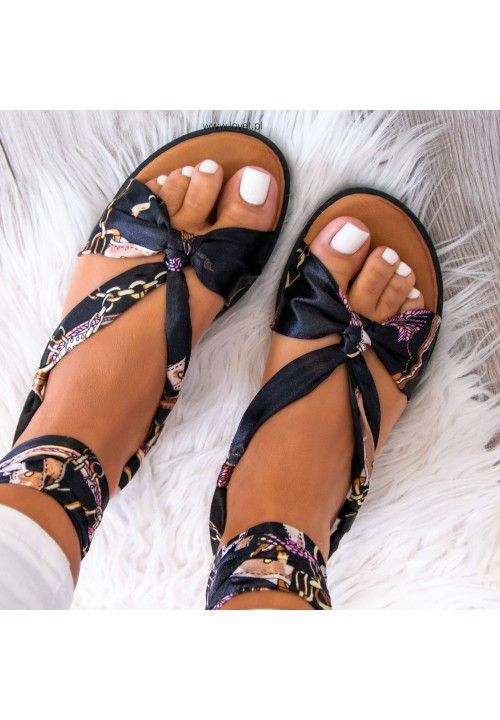 Sandałki Lace Up Czarne Zita