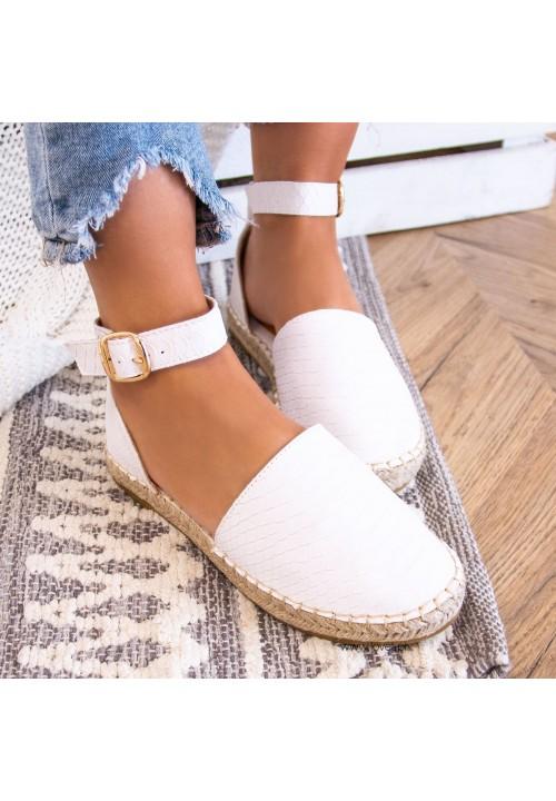 Sandały Espadryle Białe Kasja