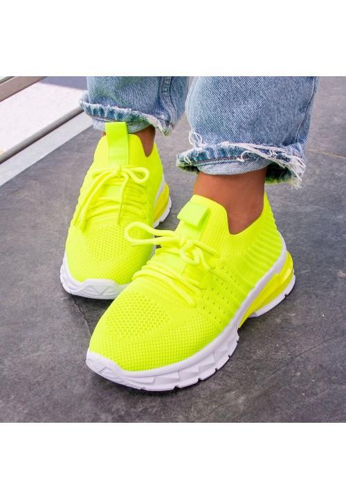 Trampki Sportowe Neonowy Żółty Iva