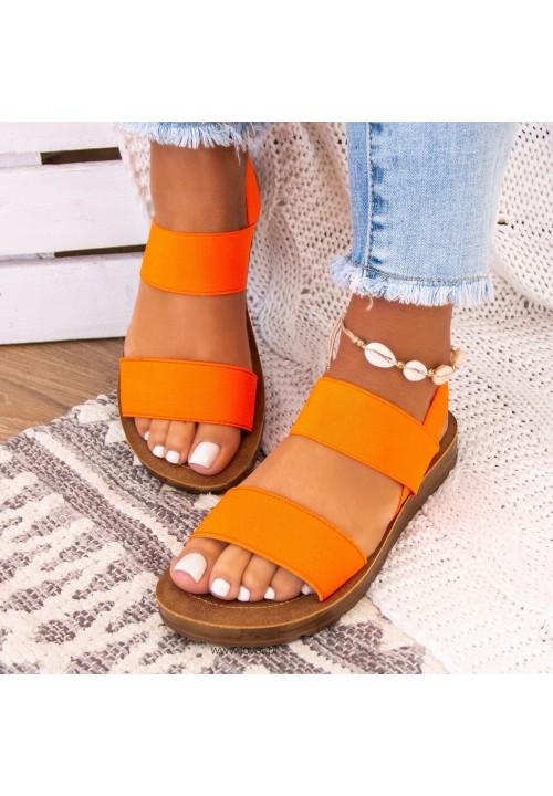 Sandały Neonowy Pomarańczowy Megan