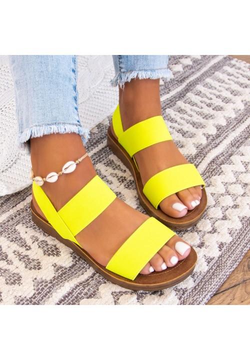 Sandały  Neonowy Żółty  Megan
