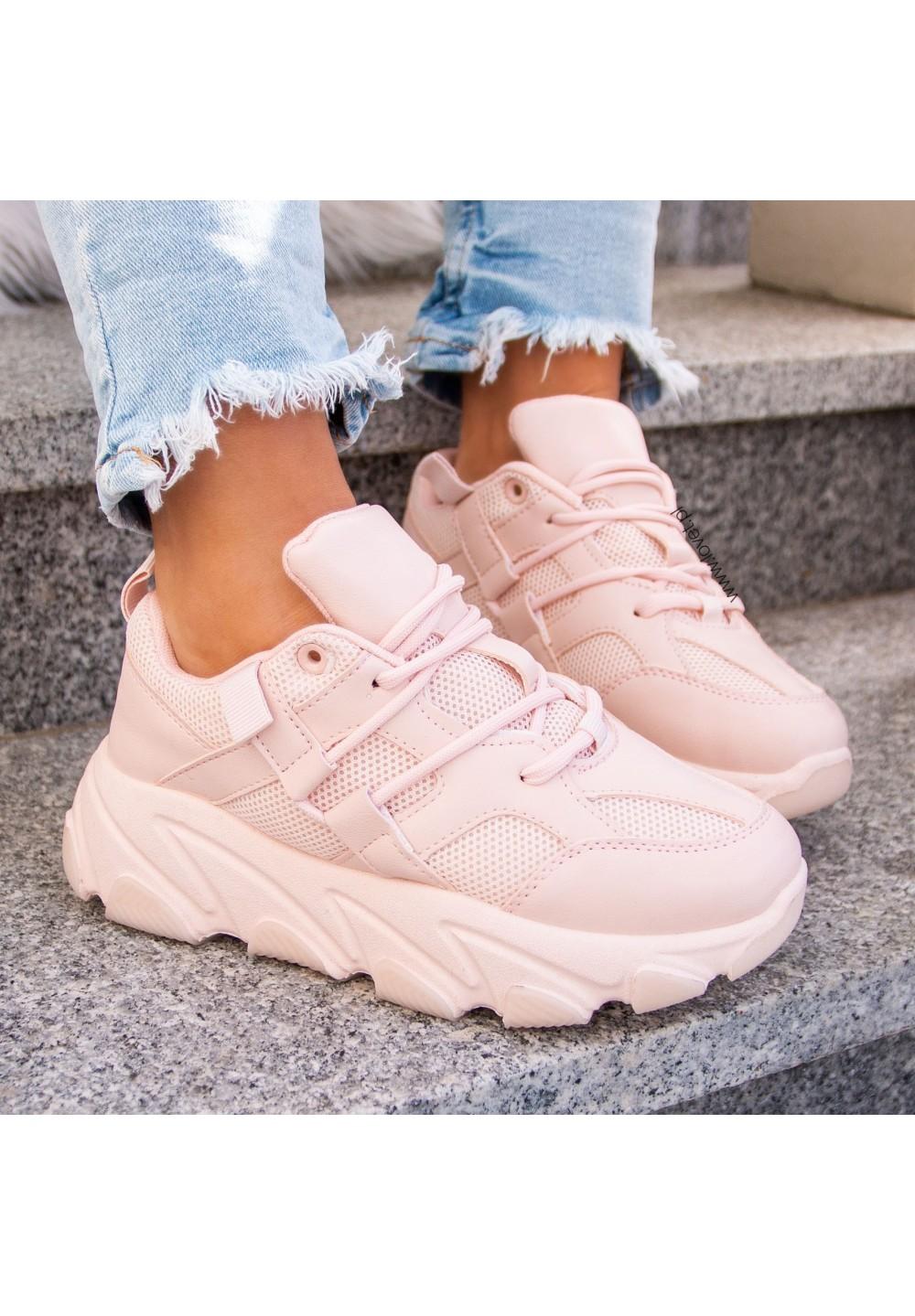 Trampki Sneakersy Różowe Victoria
