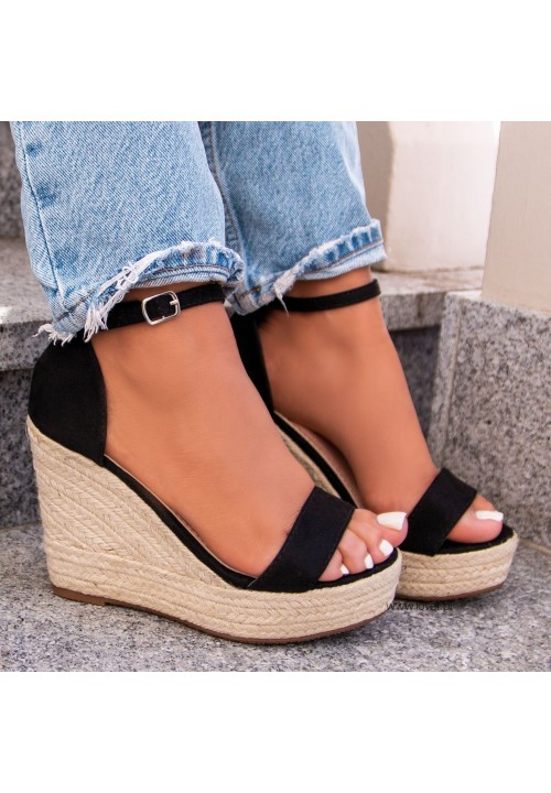Sandały Czarne Espadryle Lucy