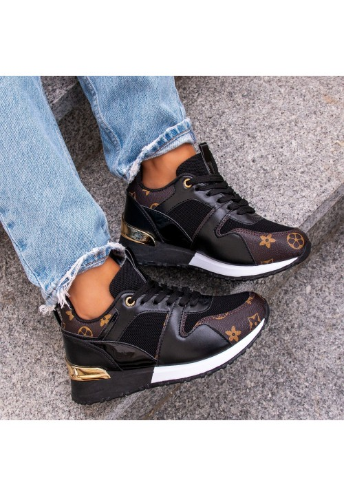 Trampki Sneakersy Sportowe Czarne Judy