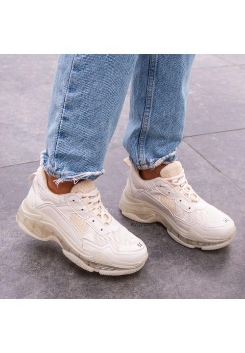 Trampki Sneakersy Beżowe Ronnie