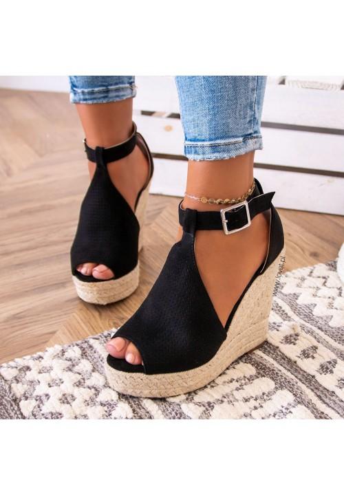 Sandały Espadryle Czarne Katty