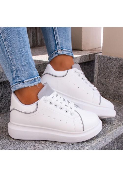 Trampki Sneakersy Białe Theres