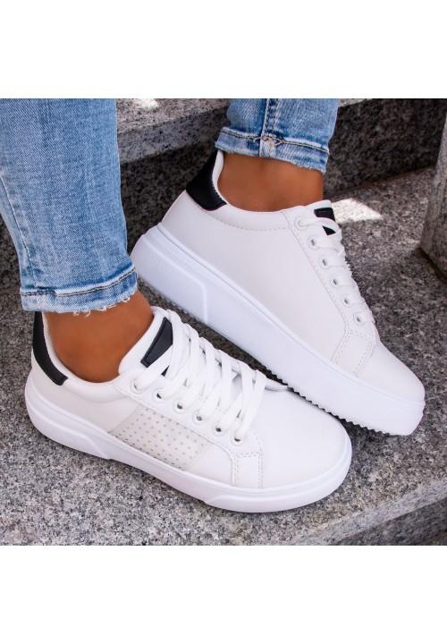 Trampki Sportowe Sneakersy Białe Verda