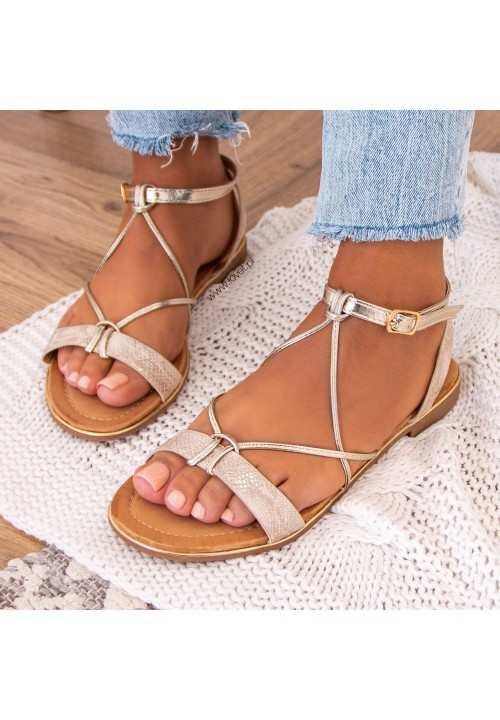 Sandałki Złote Siminn
