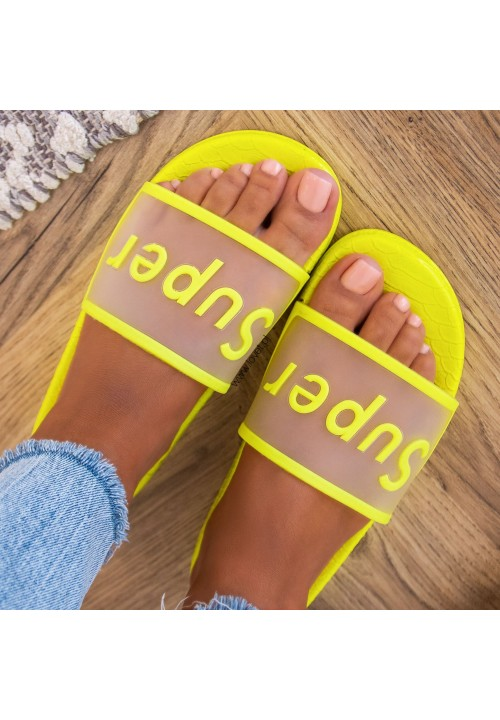 Klapki Neonowe Żółte Super Melissa
