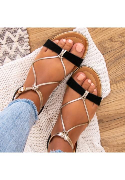 Sandałki Czarne Siminn