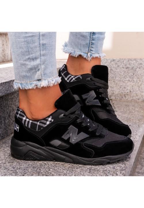 Trampki Sneakersy Czarne Black Way
