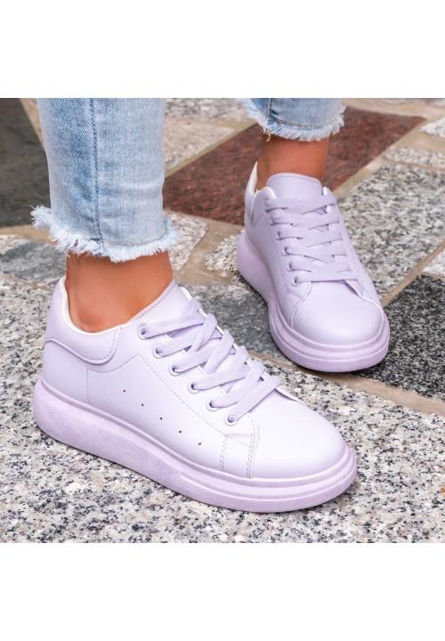 Trampki Sneakersy Jasno Fioletowe Lola