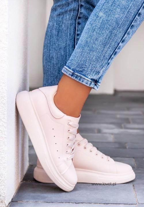 Trampki Sneakersy Różowe Lola