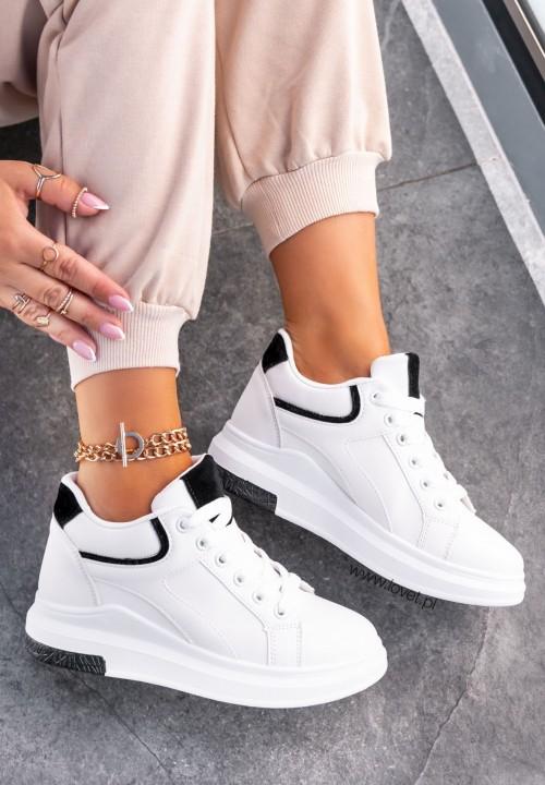 Sneakersy z Zamszowymi Wstawkami Białe Neti