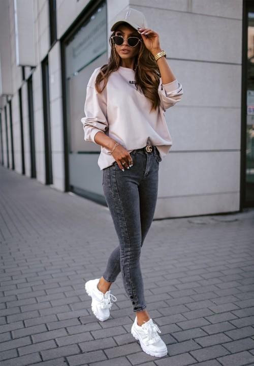 Bluza Beżowa Basic