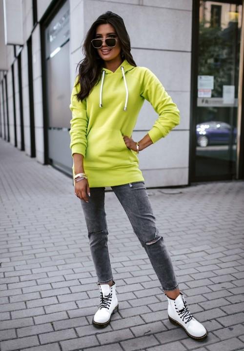 Neonowa Bluza z Kapturem Silvia