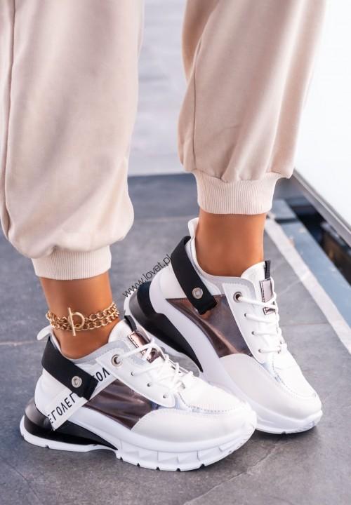 Sneakersy z Ozdobną Tasiemką Czarne Moon