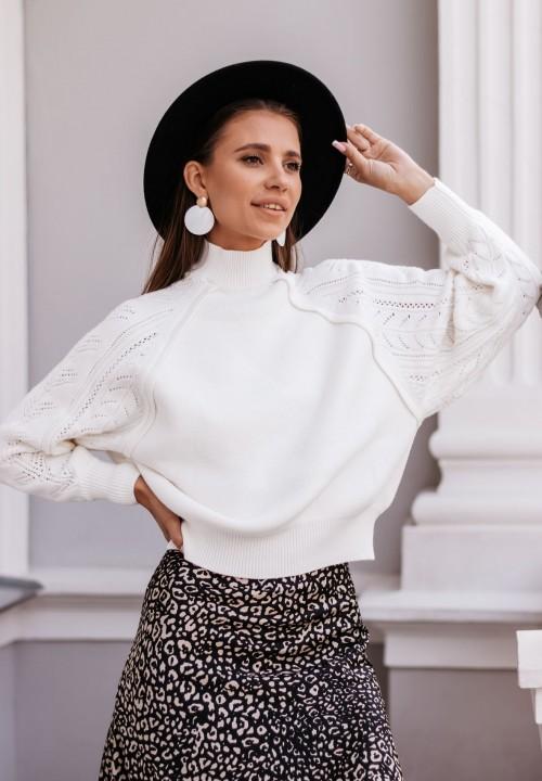 Sweter Ażurowy Beżowy Fabiene