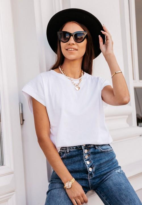 T-shirt Biały Classy