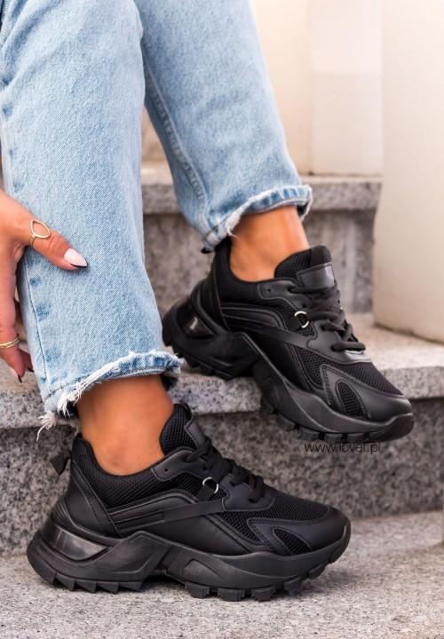 Trampki Sneakersy Sieteczkowe Czarne Lonely