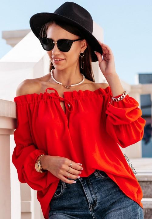 Bluzka Carmen Czerwona Manuela