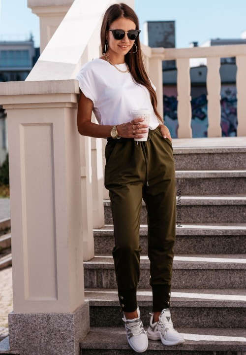Spodnie Dresowe Zielone Leila