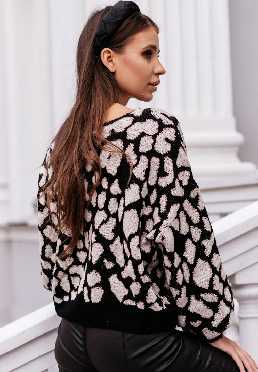 Sweter Czarno- Beżowy Fabiola