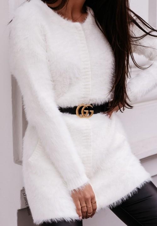Sweter Biały Puchaty Linda