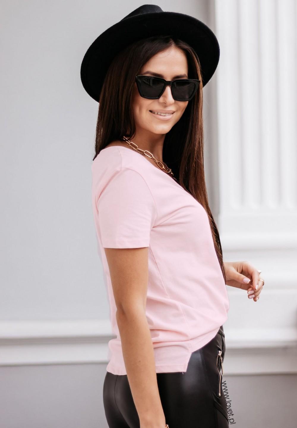 Różowy T-shirt Classy