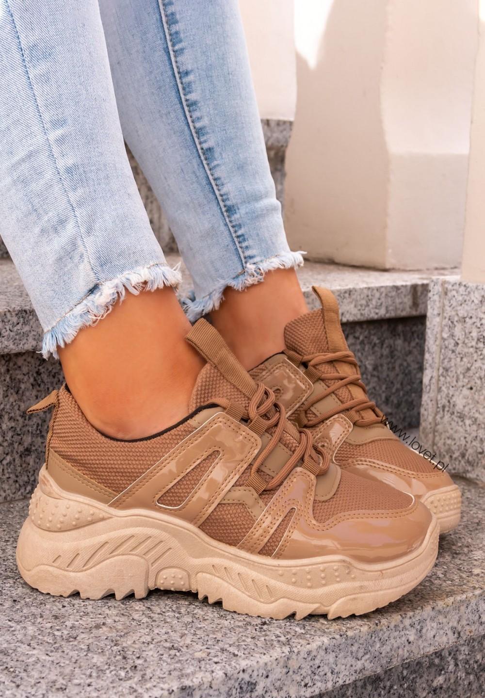 Trampki Sneakersy Beżowe Camella