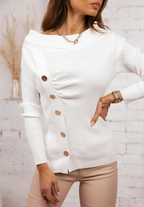 Sweter Prążkowany Kremowy Astrid
