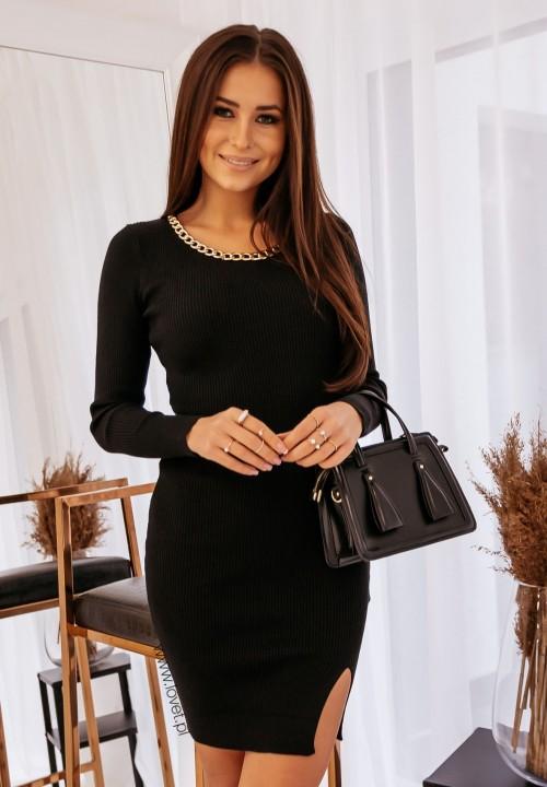 Sukienka z Łańcuszkiem Czarna Tina