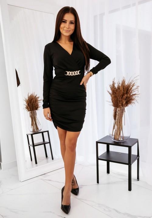 Sukienka ze Złotym Łańcuszkiem Czarna Liv
