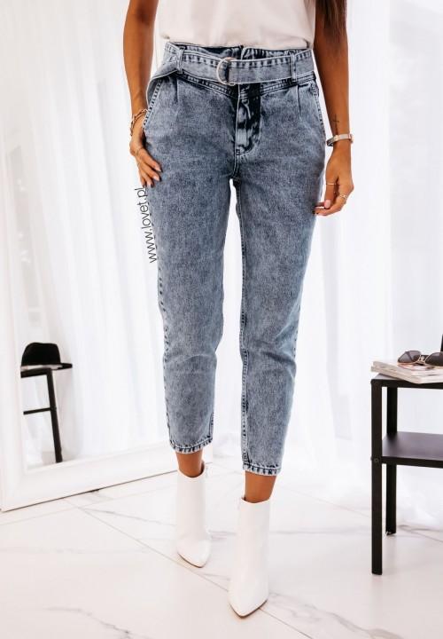 Spodnie Jeansy z Wysokim Stanem Logan