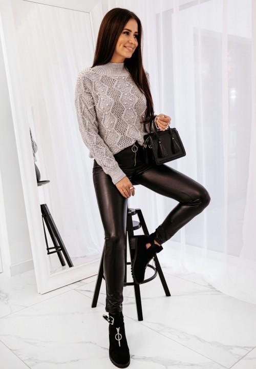 Spodnie Skórzane Czarne Hazel