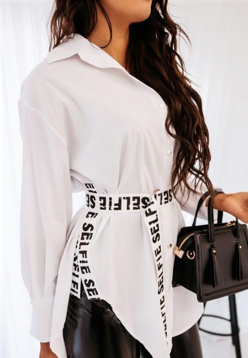 Koszula Biała z Paskiem Norisa